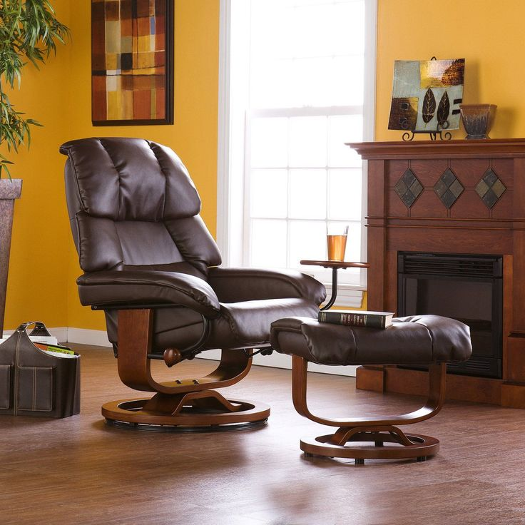 Southern Enterprises Leather Recliner with Ottoman - Bring home the ultimate in luxurious comfort and style & Best 25+ Recliner with ottoman ideas on Pinterest | Bedroom ... islam-shia.org