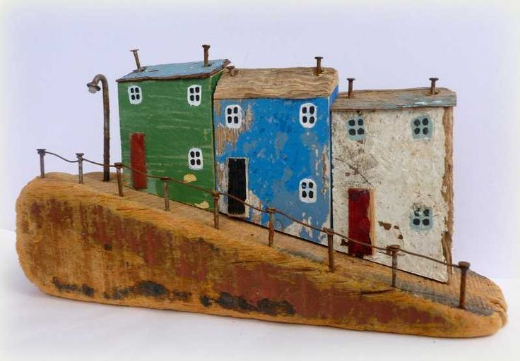 Tiny town houses from reclaimed wood