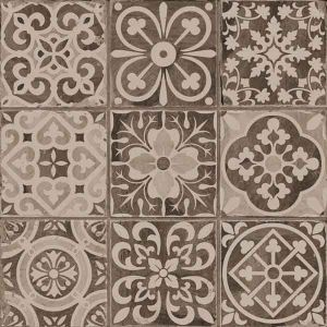 carrelage imitation carreau ancien noir 33x33 cm