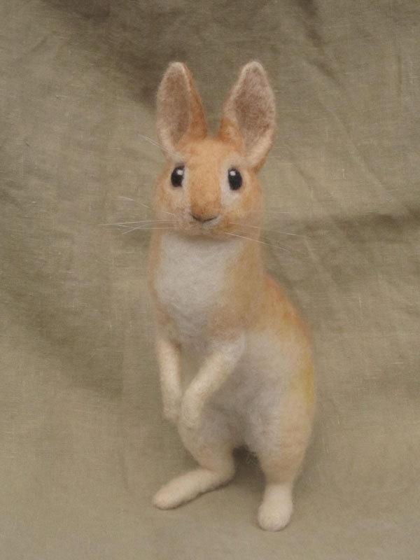 Needle felted rabbit Ainigmati 1141 best