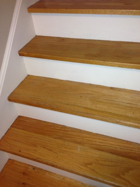 White oak stair treads replacing oak stair tread for Jardin stair treads