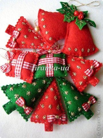 Шьем Фетровые игрушки на елочку - шитье