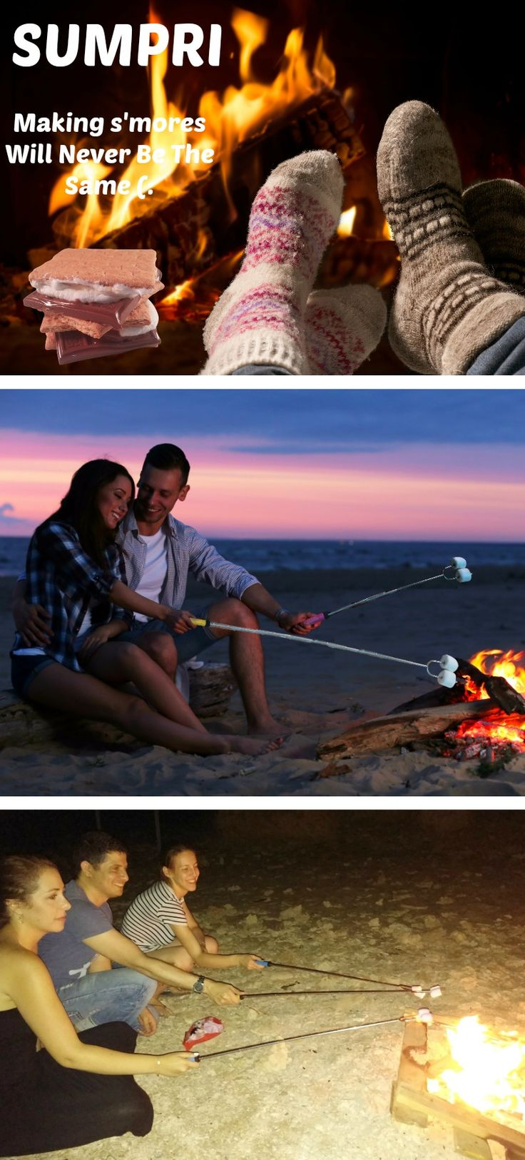 "SUMPRI Barbeqa Marshmallow Roasting Sticks Telescoping Marshmallow Jungle Stix Extra Long 34"" Set of 6 Campfire Forks Cooking Skewers for Smores, Hotdogs, Camping Cookware, Backpacking Gear, Bbq Grill, Fireplace Tools, Fire Pit Accessories This set of 6 forks is made by #sumpri #marshmallow #sticks #marshmallowroastingsticks #smoressticks #campfiresticks #smores"