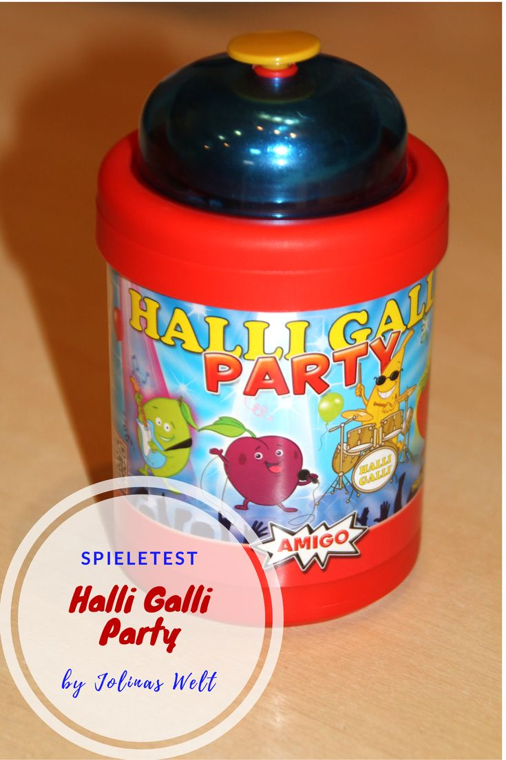 Halli Galli Party von Amigo. Ein Spiel ideal für eine Party oder eine turbulente Runde. Dauer 15 Minuten, für Kinder ab 8 Jahren und bis zu 4 Personen bespielbar, ein Gesellschaftsspiel bei dem es richtig ab geht und natürlich darf geklingelt werden