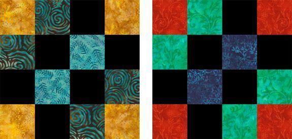 Mosaic Four Patch Quilt Blocks