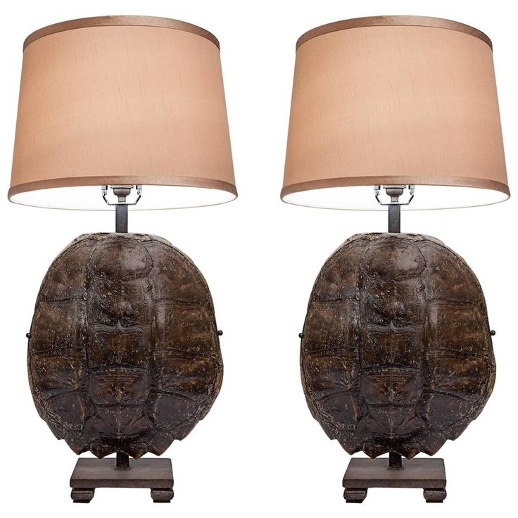 296 best lighting tablefloor images on pinterest buffet lamps pair of turtle shell and iron lamps mozeypictures Gallery