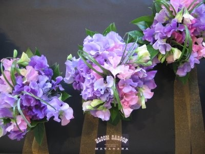 sweet peas with green leaves