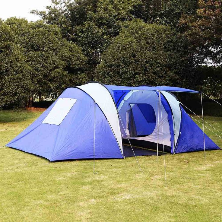 GOPLUS 2+1 Room 6-8 Persons Waterproof Tent Camping Family Tent Good Quality Family Travel Tent Large Party Camping Tent - Safaryworld.com - 1