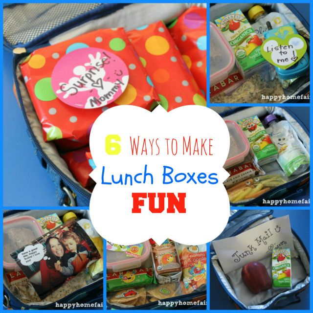 6 easy ways to make your child's lunch box fun! Such cute ideas!