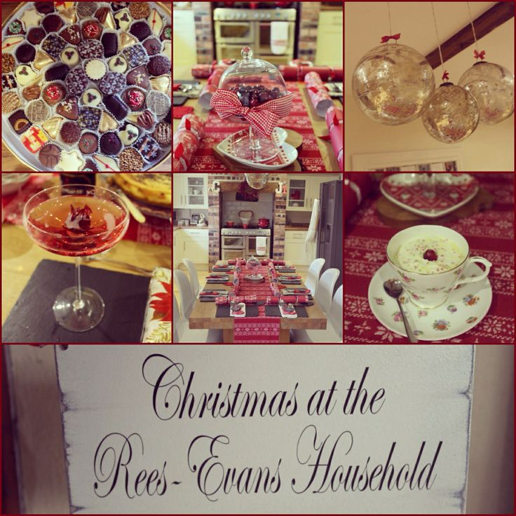 Christmas! Personalised sign, Champagne saucers, food, family!