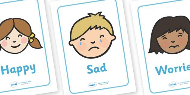 Emotions and Expressions Display Posters - Emotions, Feelings, All about me, ourselves, feelings display, feelings banner, emotions display, expression, happy, sad, angry, scared