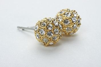 Pave Ball Earring Gold – Jewel Online 8mm balls encrusted with Swarovski crystal to give a Pave finish. 18 carat gold electroplated over brass. $79.90