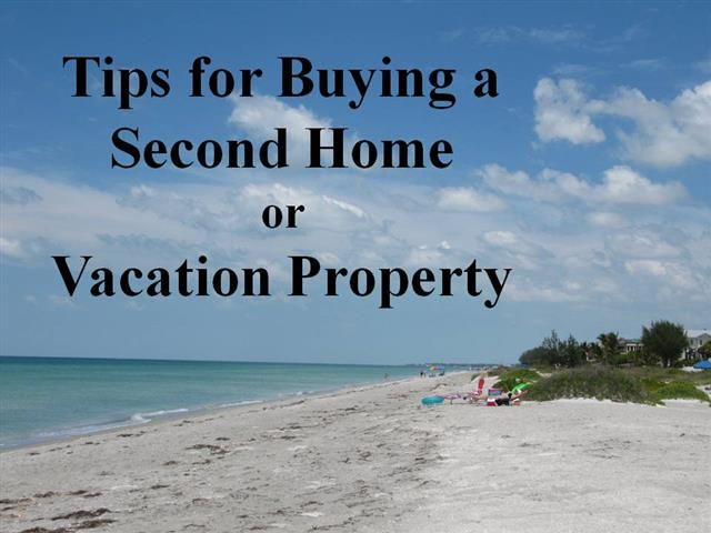 Tips for buying a second home or vacation property in Sarasota, Florida.