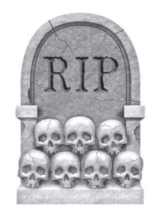 22 halloween skulls tombstone lawngraveyard at frightcatalogcom - Fright Catalog Halloween Decorations