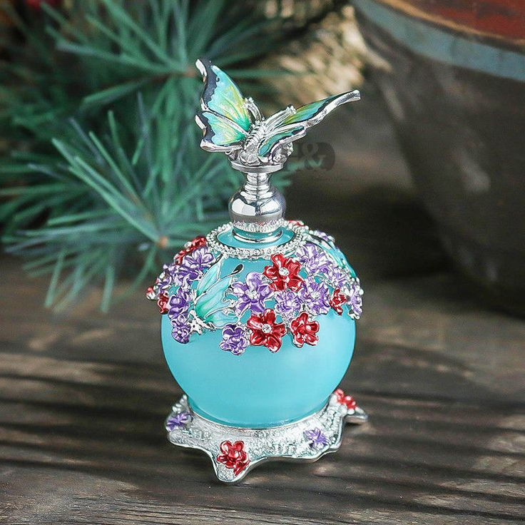 Vintage Butterfly Handmade Empty Perfume Bottle Wedding Decor Lady Gift 23ml #Unbranded