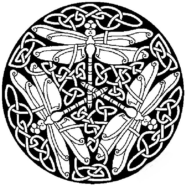 Dragonfly Mandala Coloring Pages