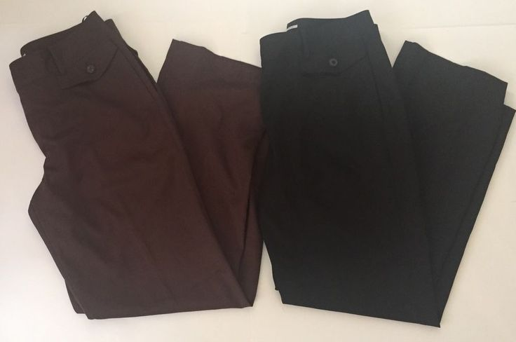 Izod Golf Pants Ladies Size 10 Brown Black Stretch Casual Slacks Two Pairs Lot  | eBay