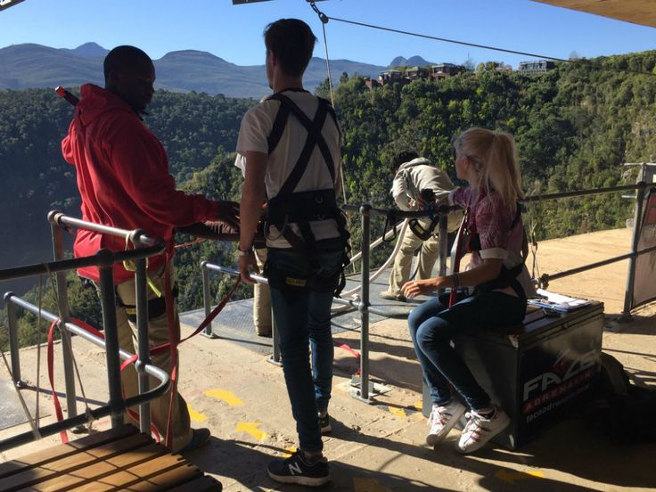 On the Garden Route: Bungee Jump at Tsitsikamma National Park. Well equiped and with a professional team ;)