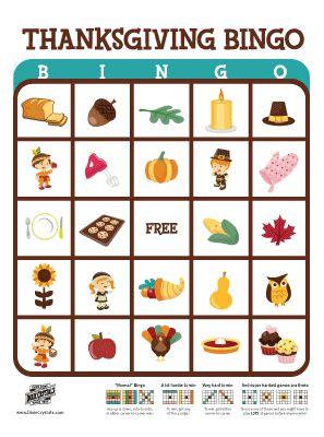 Thanksgiving Bingo and other activities