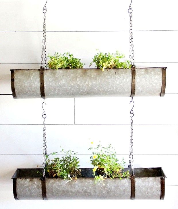 25 best ideas about metal planters on pinterest flower stands minimalist outdoor furniture - Metal hanging planter ...