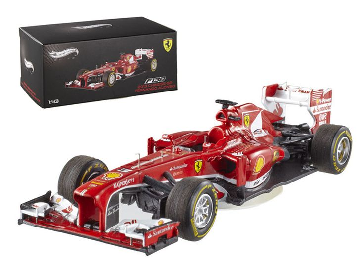 Hot wheels Elite Ferrari F2013 F138 Fernando Alonso Formula 1 2013 F1 China GP 1/43 Diecast Car Model by Hotwheels - Limited to 5000pc Worldwide. Rubber tires. Brand new box. Detailed interior, exterior. Comes in plastic display showcase. Dimensions approximately L-4 inches long.-Weight: 1. Height: 5. Width: 9. Box Weight: 1. Box Width: 9. Box Height: 5. Box Depth: 5