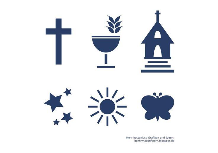 Kostenloses Grafikset: Konfirmation / Kirchliche Feste (Kommunion, Taufe, Ostern, Firmung, ...) P.S.: Viele weitere kostenlose Grafiken, Sprüche und Ideen rund um die Konfirmation gibt es im Blog!