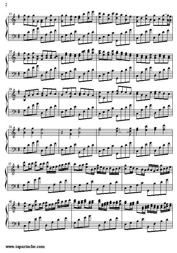 partitura musical Canhão Johann Pachelbel