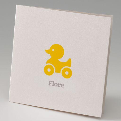 Geboortekaart - Speelgoed eend :: Belarto www.belarto.be