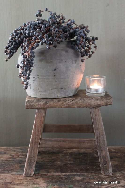 perfect on top of the wine barrel table in dining corner.. love it
