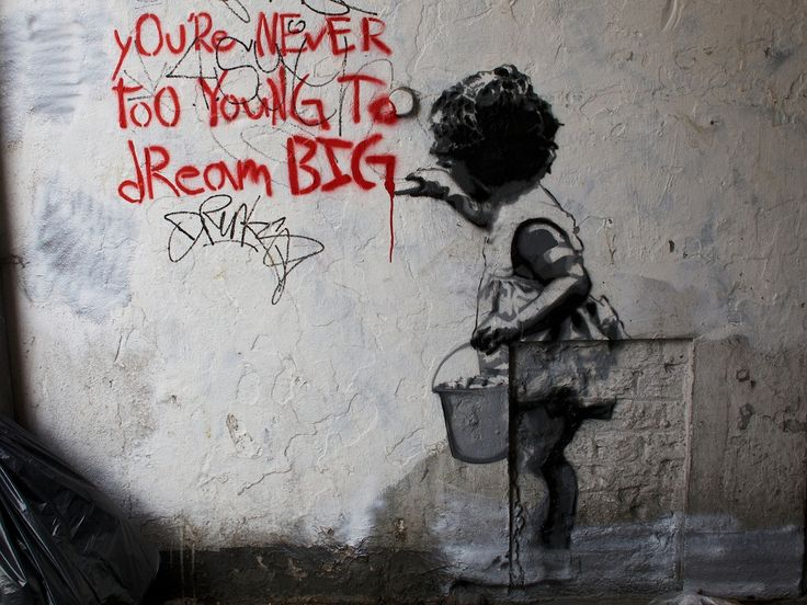 STREET ART UTOPIA » We declare the world as our canvasYou´re never too young to dream BIG - In London, England » STREET ART UTOPIA