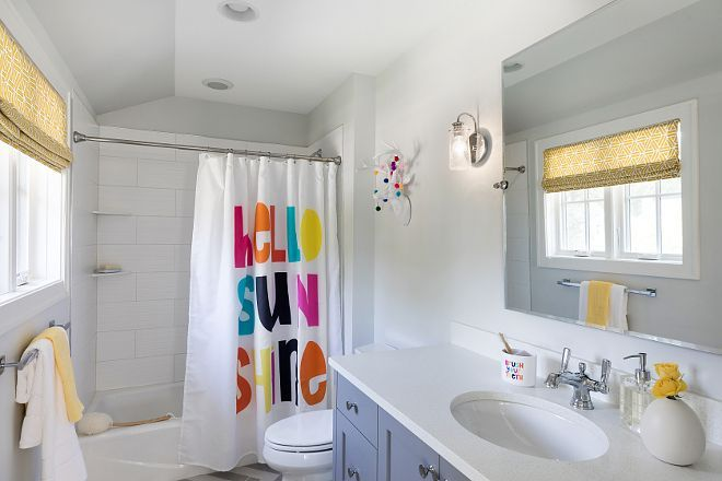 Kids Bathroom Shower Curtain Hello Sunshine Kids Bathroom Shower