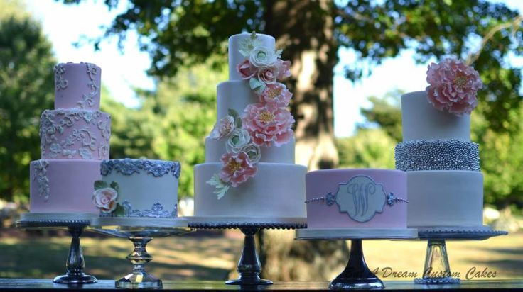 Ivory and Blush Cake Bar - Cake by Elisabeth Palatiello