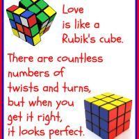 Love is Like a Rubik's Cube