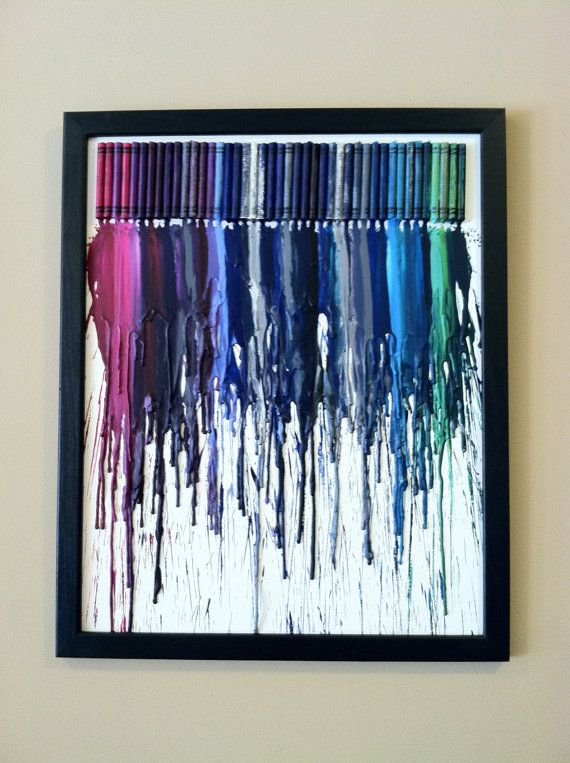 Crayon art.: Wall Art, Melted Crayons Art, Artworks, Hands Made, Art Ideas, Diy Gifts, Colors Schemes, Crayons Canvas, Art Projects
