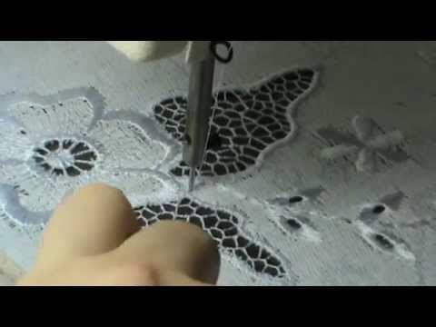 Вышивка Ришелье    Листик Мозаичной сеткой 2я часть