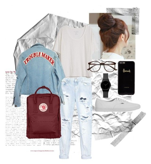 """""""Daily outfit"""" by syifasyhdh on Polyvore featuring Pin Show, One Teaspoon, Fine Collection, Harrods, Vans and Fjällräven"""