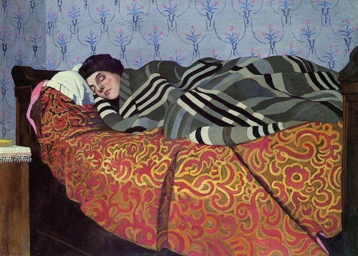 Félix Edouard Vallotton (Swiss, 1865-1925) Sleeping Woman,1899