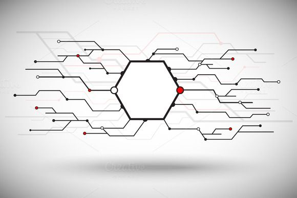 Vector graphics. Abstract. Plurality  network by NikSorl on Creative Market