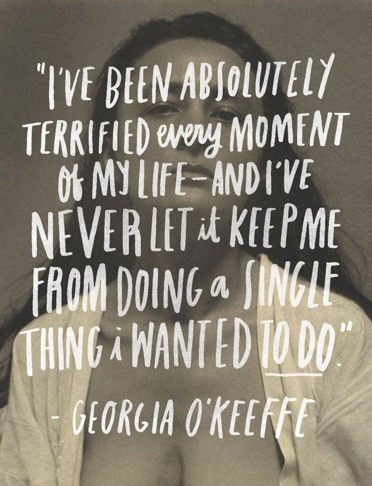 June Letters Studio | Georgia O'Keefe Quote on fear