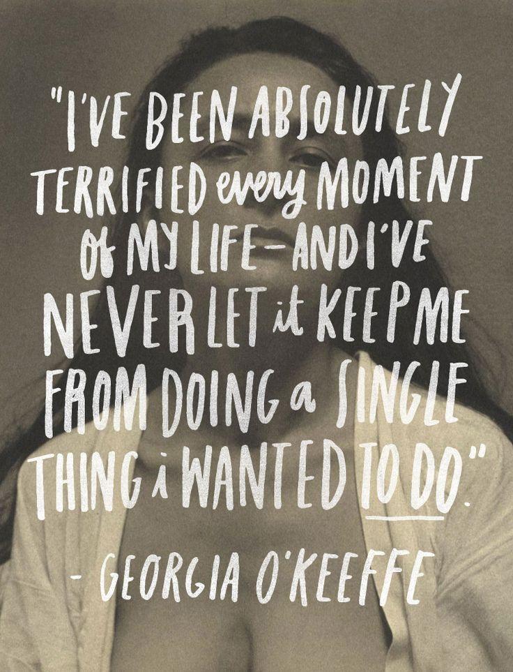 June Letters Studio | Georgia O'Keefe quote