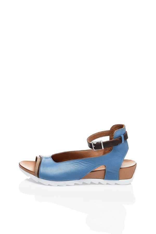 Mavi Kahve Günlük Bayan Sandalet - Bueno Shoes