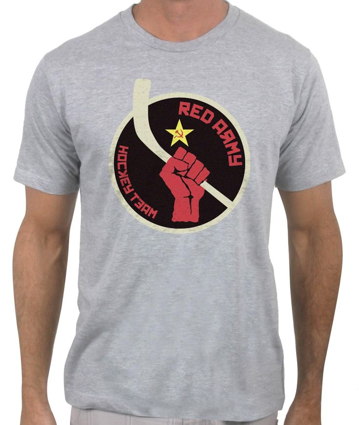 Perfect for any hockey lover, the Soviet Red Army Hockey Team T-Shirt.