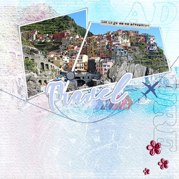 """Layout made with the new kit from Synergy Ink: """" Adventure at digiscrap.nl"""