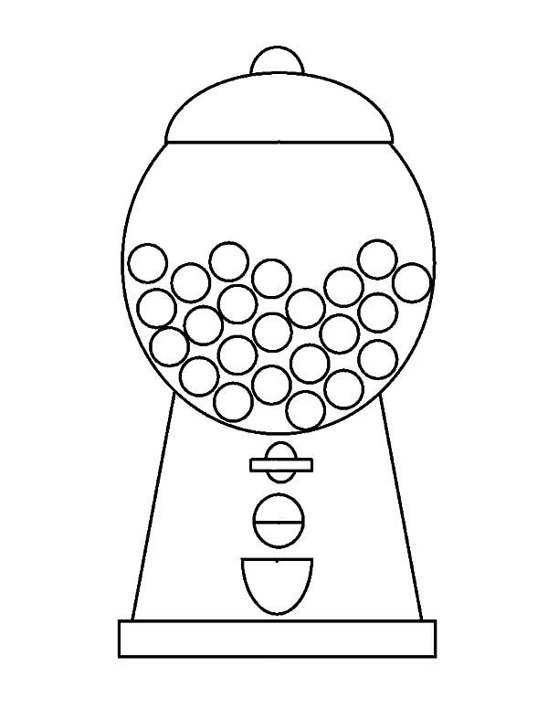 Gumball Machine Coloring Pages Gumball Machine Gumball
