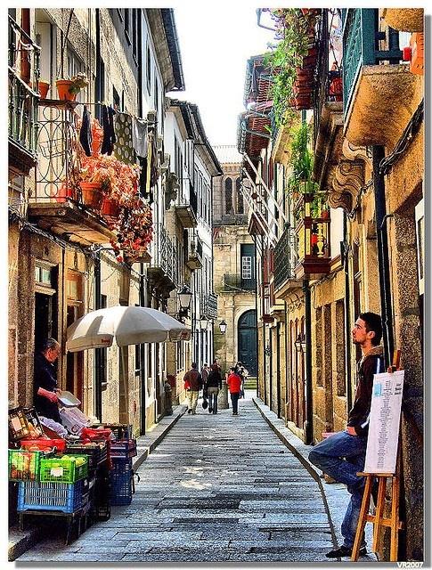 Side Street, Lisbon, Portugal