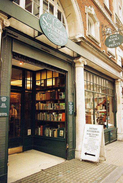 Sotherran's Bookstore, London by vic xia, via Flickr
