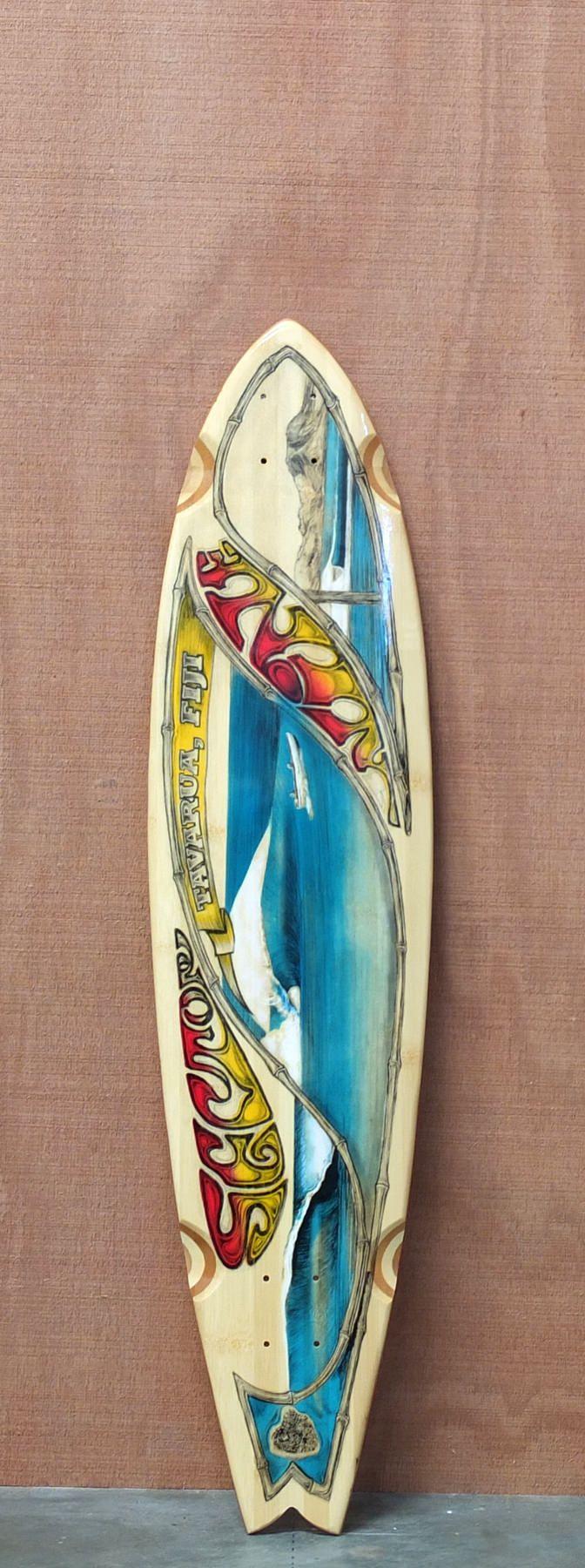 "$75.00 Sector 9 39.5"" Bamboo Fiji Longboard Deck"