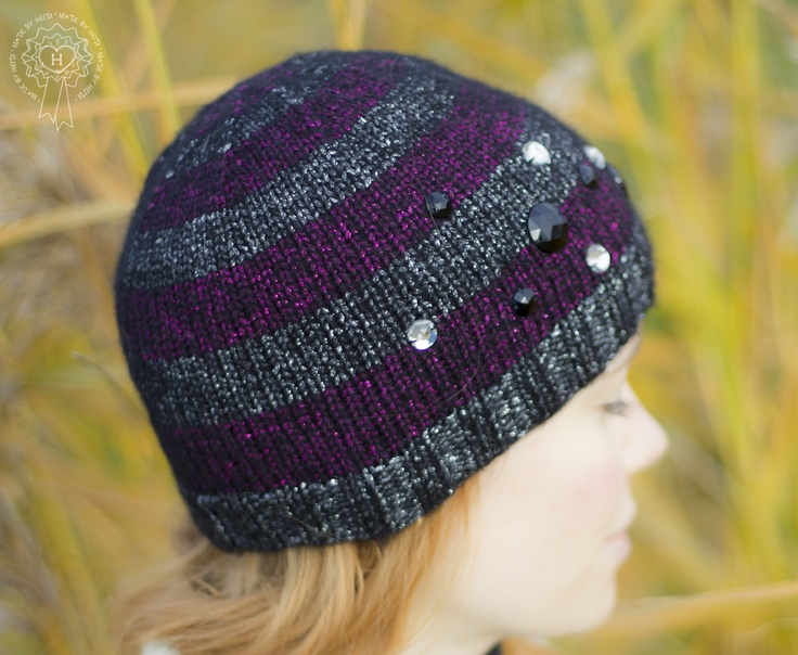 Kimaltava raidallinen pipo / Glitter hat