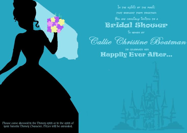 Best Disney bridal shower ever! Just understand that this is being planned by Michelle and I for you when the time comes!