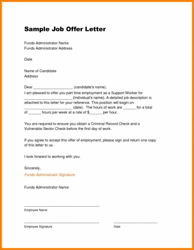 job offer letter template job offer template job offer sample